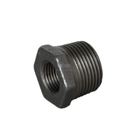 Black Malleable Iron Male / Female Hex Reducing Bush