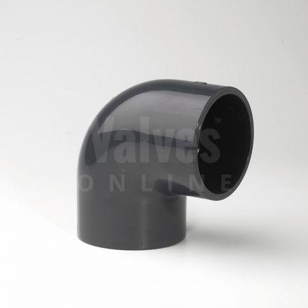 PVC 90° Plain Inch Solvent Elbow