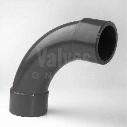 PVC 90° Short Radius Bend Plain Metric